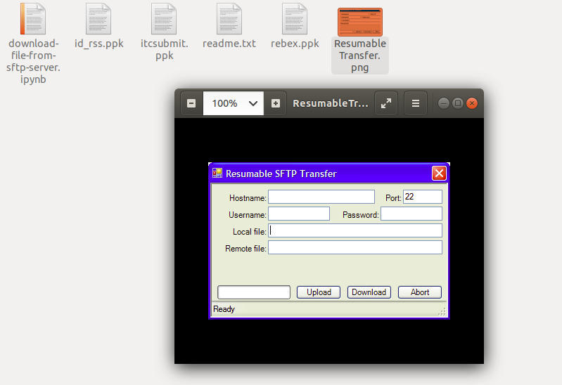 Download files from SFTP server