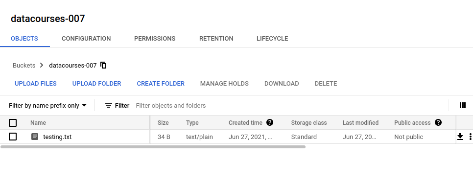Google Cloud Storage Python